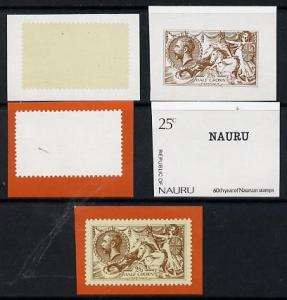 Nauru 1976 Stamp Anniversary 25c (SG 149) set of 5 unmoun...