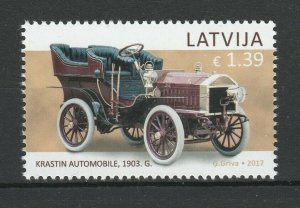 Latvia 2017 Cars MNH stamp