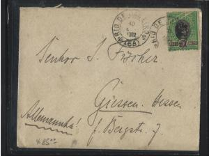 BRAZIL  (PP2701B) 1902 LIBERTY 300R RIO TO GERMANY