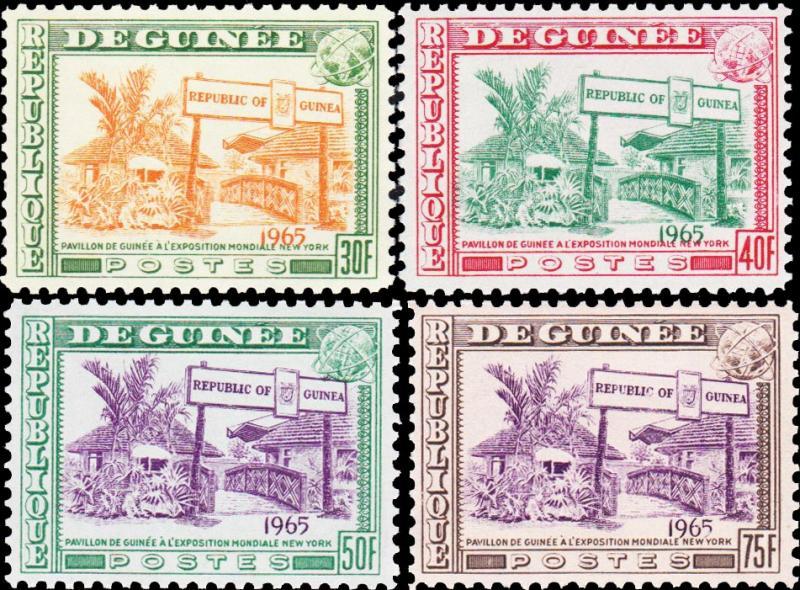 Guinea MNH 372-5 Worlds Fair 1965 SCV 2.60