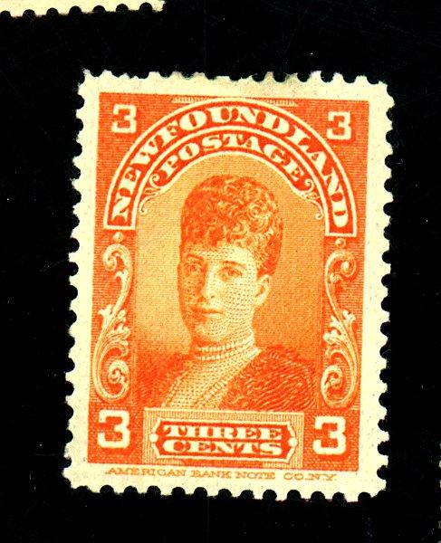 Newfoundland #83 MINT F-VF OG Paper HR Cat $28