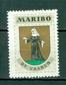 Denmark. Poster Stamp 1940/42. Mnh. Town  Maribo. Coats Of Arms
