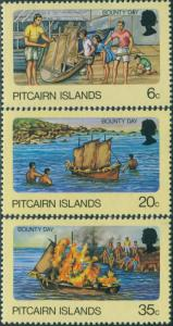 Pitcairn Islands 1978 SG185-187 Bounty Day set MNH