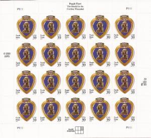 Withdrew 02-13-19-US Stamp - 2006 Purple Heart - 20 Stamp Sheet - Scott #4032