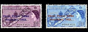 BERMUDA - 1953 - QE II - THREE POWER TALKS - CONFERENCE + 2 X MINT - MNH SET!