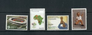 Tanzania #2413-16 (2006 World Cup Soccer set)  VFMNH  CV $3.75
