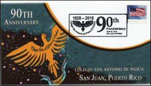 19-089, 2019, Colegio San Antonio De Padua, Pictorial Postmark, Event Cover, Pue