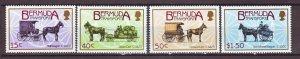 J22392 Jlstamps 1988 bermuda set mh #532-5 horses wagons