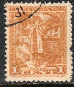 MEXICO 784, 1c 1934 Definitive. Yalalteca girl. Used. F-VF. (759)