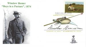 Winslow Homer FDC, with DCP, from Toad Hall Covers