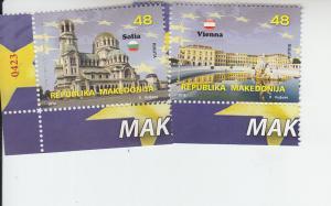 2018 Macedonia European Union (2) (Scott 781-82) MNH