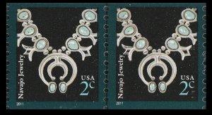 US 3758B American Design Navajo Jewelry 2c coil pair (2 stamps) MNH 2011