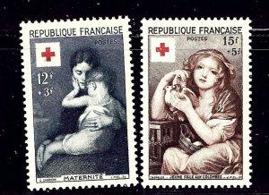 France B291-92 MH 1954 Paintings    (ap1352)