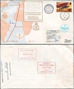 RD6a Falkland Islands to UK Signed by Pilot/Crew Member