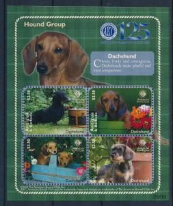 [33195] Antigua & Barbuda 2009  Dogs 125 Year American Kennel Club MNH Sheet