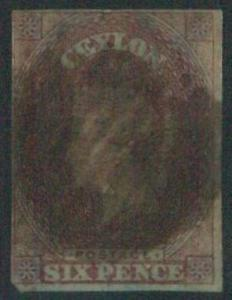 70355b - CEYLON - STAMPS: Stanley Gibbons #  1 - Finely Used