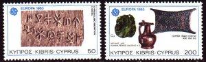 Cyprus. 1983. 582-83. Archeology, ceramics, Europe. MNH.