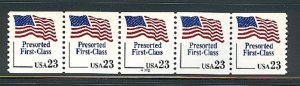 USA PNC SC# 2605 FLAG  $0.23c.PRESORTED FIRST CLASS PL# A222 THIN W. A. PNC5 MNH