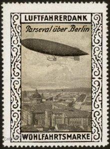 Germany WWI Air Force Luftfahrerdank Flight MNH Zeppelin Parseval Cinder G102791