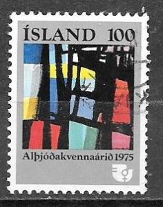 Iceland 1975 100k Kjarval painting, used, Scott #486