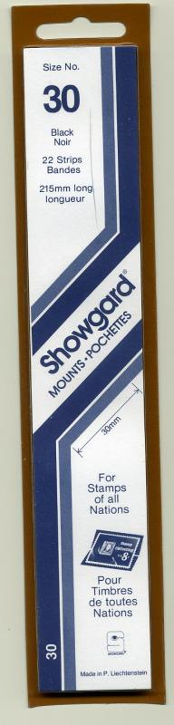 SHOWGARD DARK BACKGROUND MOUNTS 30 / 215 PACKAGE 22 STRIPS