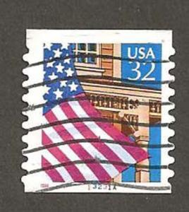 RARE SCOTT 2915A 32¢ Flag Over Porch #13231A 10 x 10 VP/PV