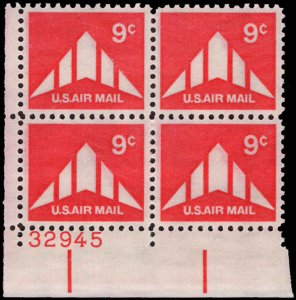 US #C77 9¢ DELTA WING MNH LL PLATE BLOCK #32945 DURLAND $1.00