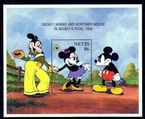 NEVIS - 1994 - DISNEY - MICKEY - MINNIE - MICKEY'S RIVAL - MINT - MNH S/SHEET!