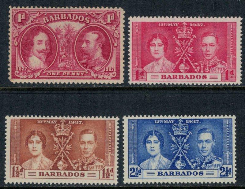 Barbados #180,190-2* NH  CV $3.75