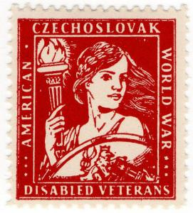 (I.B) US Cinderella : Czechoslovak Disabled War Veterans Charity Stamp