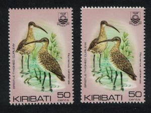 Kiribati Bristle-thighed curlew 50c COLOUR SHIFT SG#175