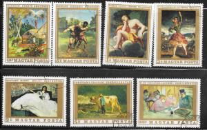 Hungary #1975-81  Paintings  (U) CV $3.25