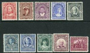 NEWFOUNDLAND-1911 Coronation.  A lightly mounted mint set Sg 117-127
