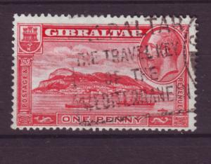 J19569 Jlstamps 1931-3 gibraltar used #96a king/ships perf type