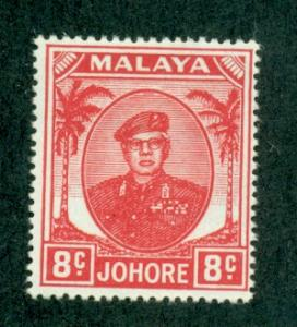 Malaya-Johore #136  Mint  Scott $5.50