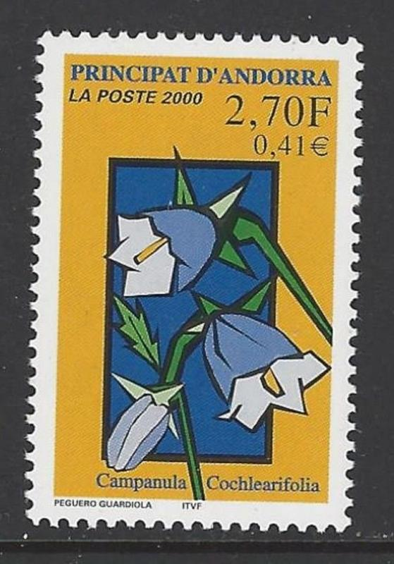 Andorra French 2000 Flower VF MNH (521)