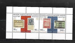 NETHERLANDS ANTILLES, 1007, MNH, STRIP OF 4, PHILATELY