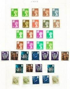 GB   WALES   - VFMNH - MACHIN definitives -