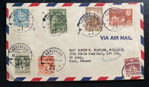 1954 Copenhagen Denmark Airmail Cover To US Army Toul France