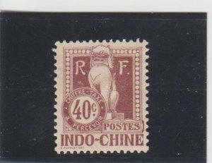 Indo-China  Scott#  J12  MH  (1908 Postage Due)