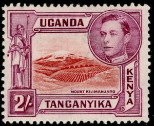 KENYA UGANDA TANGANYIKA SG146b, 2s lake-brown & brwn-purple, LH MINT. Cat £48.