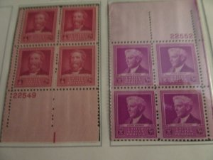 SCOTT 875 2 CENT CRAWFORD KING&SCOTT 876 3 CT LUTHER BURBANK   1940