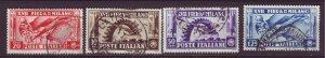 J24794 JLstamps 1936 italy set used #355-8 milan fair