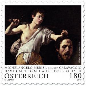 Stamps Austria 2019 - Michelangelo Merisi aka Caravaggio .David with the Head o