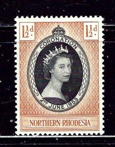 Northern Rhodesia 60 MH 1953 QEII Coronation    #2