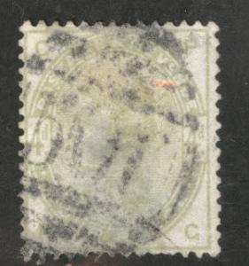 Great Britain Scott 103, 1884 Victoria 4p CV$200 FAULTY