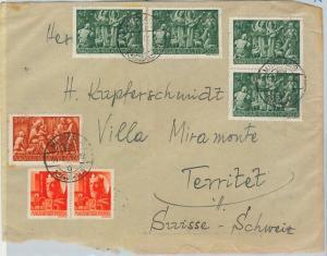 62479 -   HUNGARY Magyar - POSTAL HISTORY:  COVER to SWITZERLAND - 1944 - CENSOR