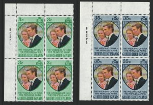 Gilbert and Ellice Islands Sc#216-217 MNH Corner Blocks of 4