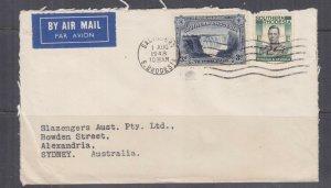 SOUTHERN RHODESIA, 1948 Airmail cover to Australia, KGVI 1s., Victoria Falls 3d
