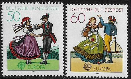 Germany #1349-50 MNH Set - Europa